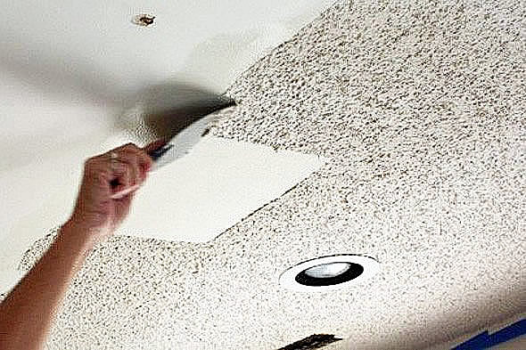 Professional popcorn ceiling removal