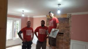 popcorn ceiling removal boys