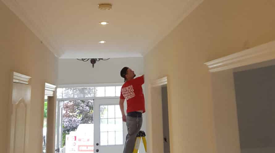 ceiling stucco removal