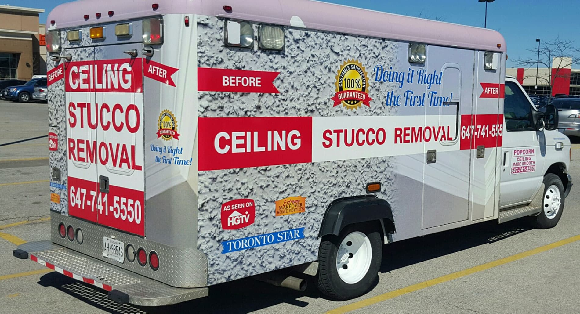 ceiling stucco removal truck