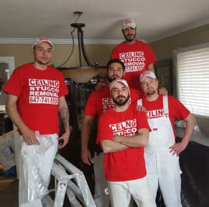 popcorn ceiling removal team