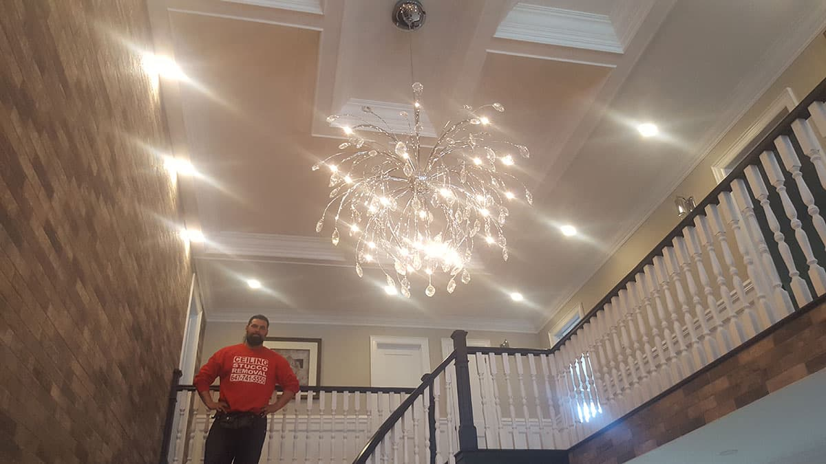 Coffered Ceiling & Potlights