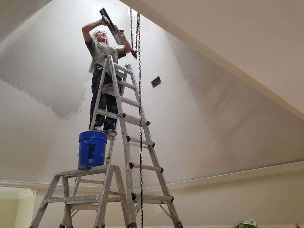 Smoothing out 25ft Ceiling