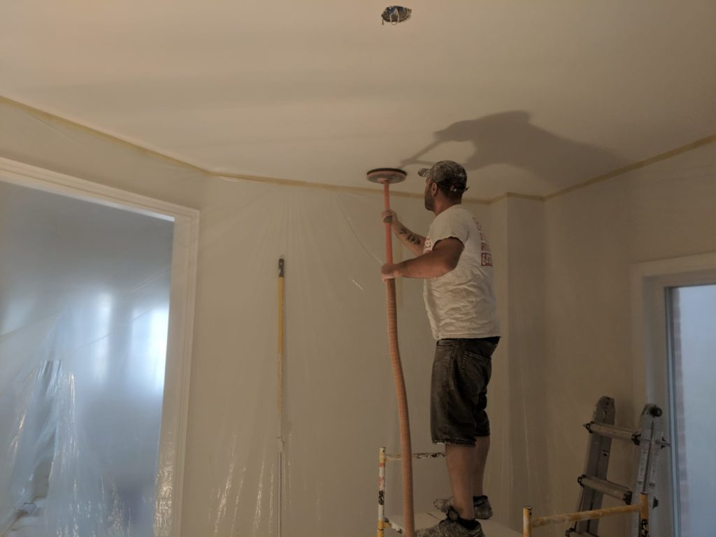 Smoothing Out Ceiling