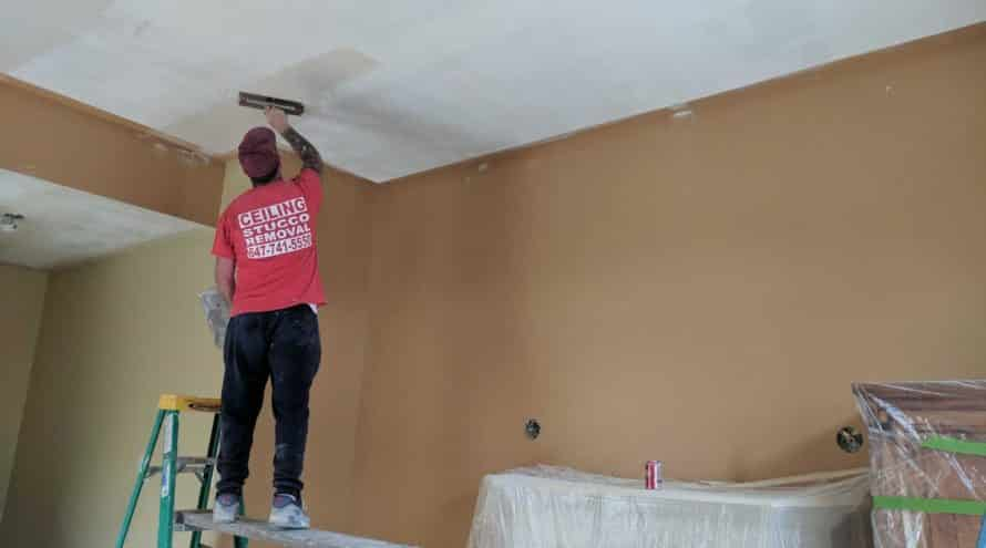 Popcorn ceiling removal Toronto